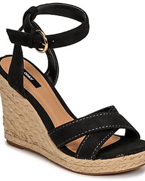 Čierne sandále Only