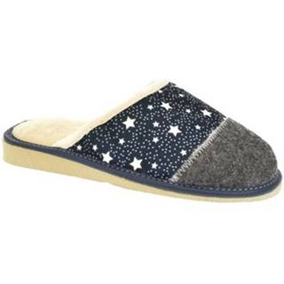 Papuče  Dámske modré papuče LUNA