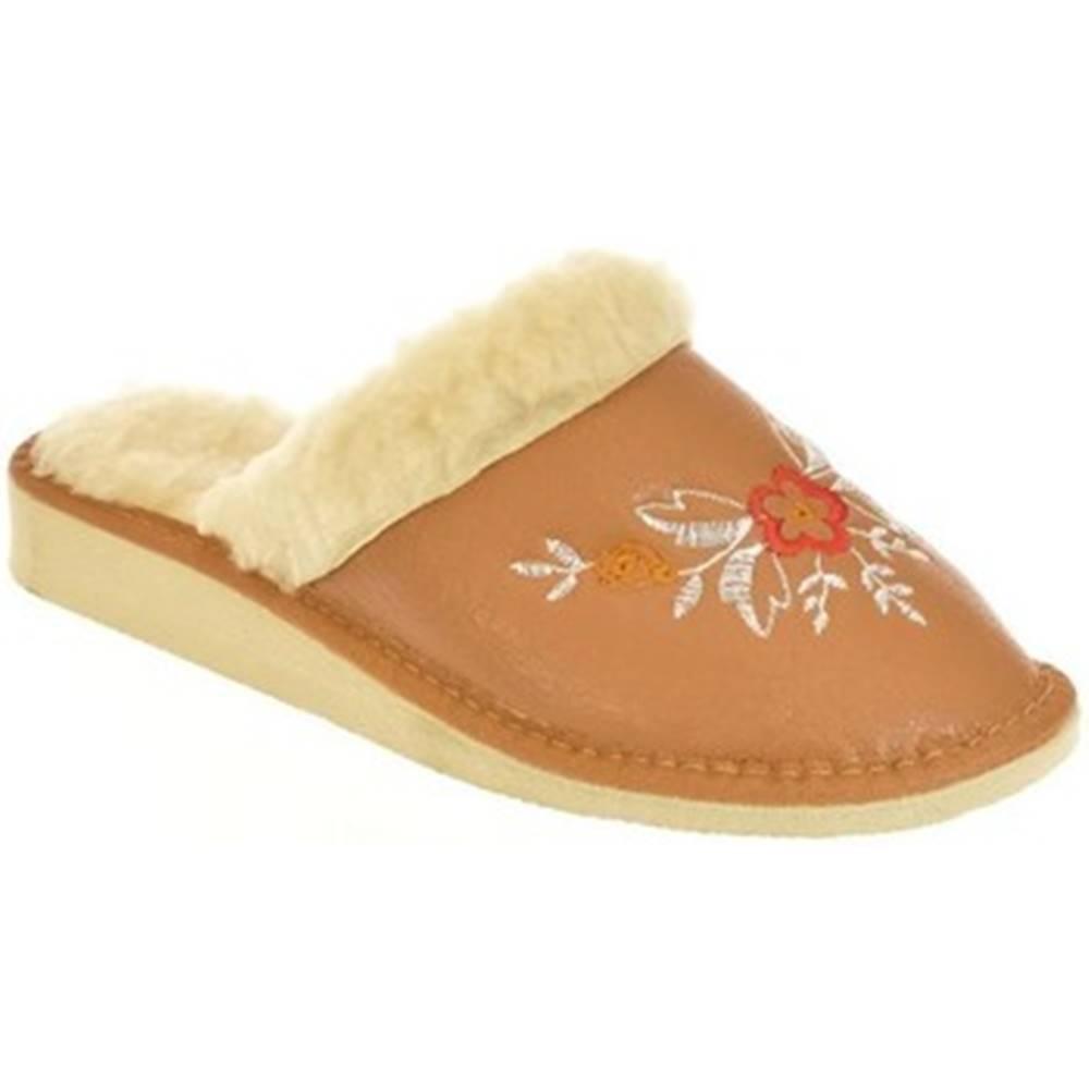John-C Papuče John-C  Dámske hnedé papuče ELIE