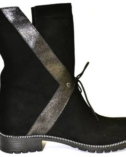 Čierne čižmy Oleksy