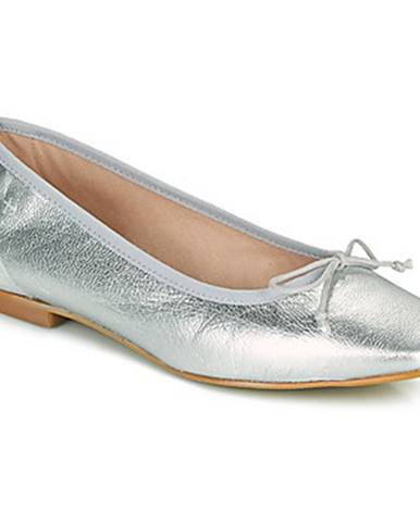Strieborné balerínky Betty London
