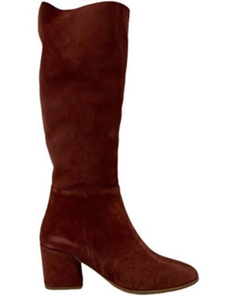 Hnedé polokozačky Bueno Shoes