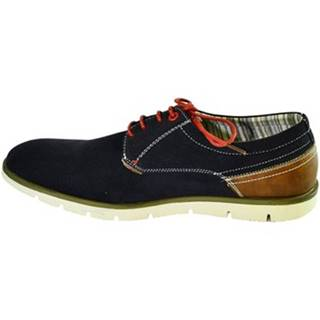 Nízka obuv do mesta Just Mazzoni  Pánske tmavo-modré topánky KEMAL