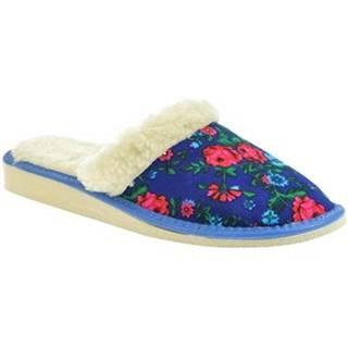 Papuče John-C  Dámske modré papuče ELIA 2