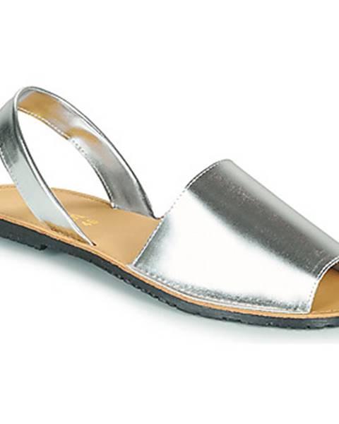 Strieborné sandále So Size