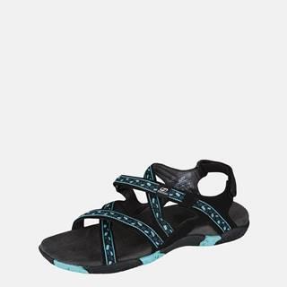 Modré dámske vzorované sandále Hannah