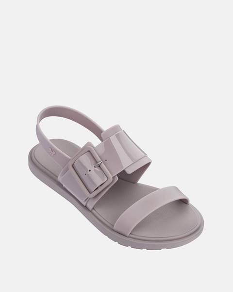 Sivé sandále Zaxy