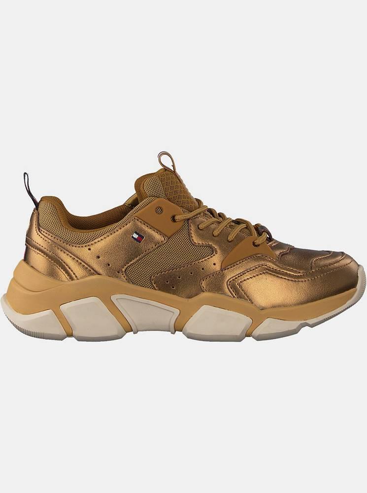 Tommy Hilfiger Tommy Hilfiger zlaté tenisky Metallic Tommy Chunky Sneaker Dark Gold