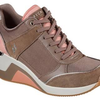Skechers púdrové tenisky na platforme Million High N Fly Taupe