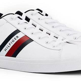 Tommy Hilfiger biele pánske tenisky Essential Stripes Detail Sneaker