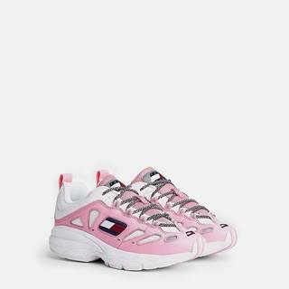 Tommy Hilfiger kožené farebné tenisky Heritage Retro WMNS Bubble Pink