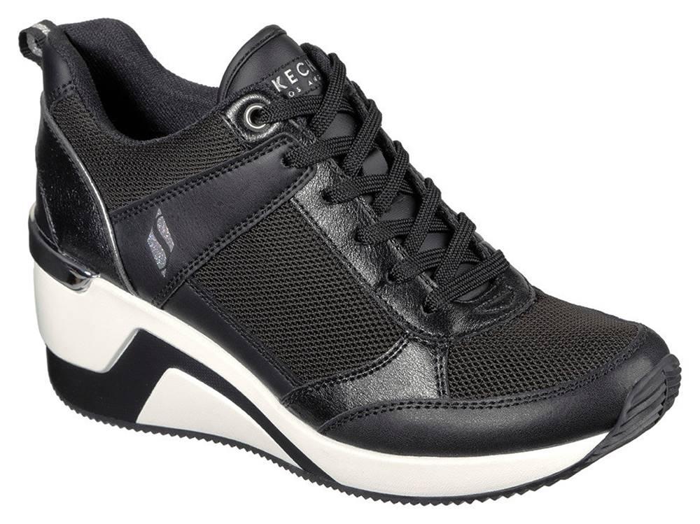 Skechers Skechers čierne tenisky na platforme Million Air Up There Black
