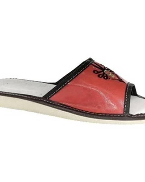 Červené papuče John-C