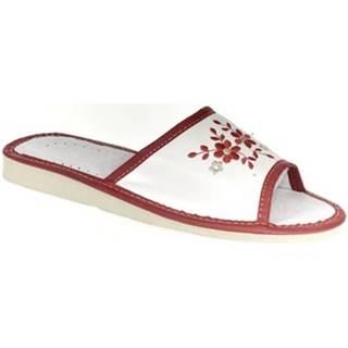 Papuče John-C  Dámske bielo-červené papuče MALVINA