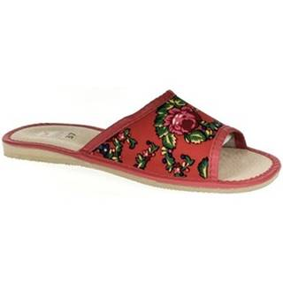 Papuče John-C  Dámske červené papuče ALMA