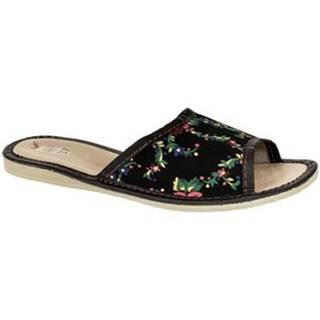 Papuče John-C  Dámske čierne papuče ALMA
