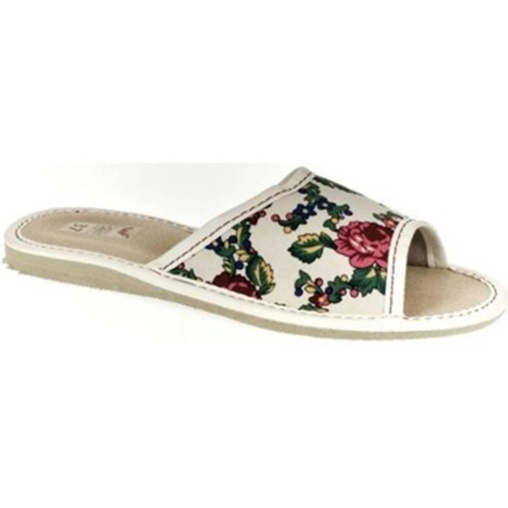 John-C Papuče John-C  Dámske biele papuče ALMA