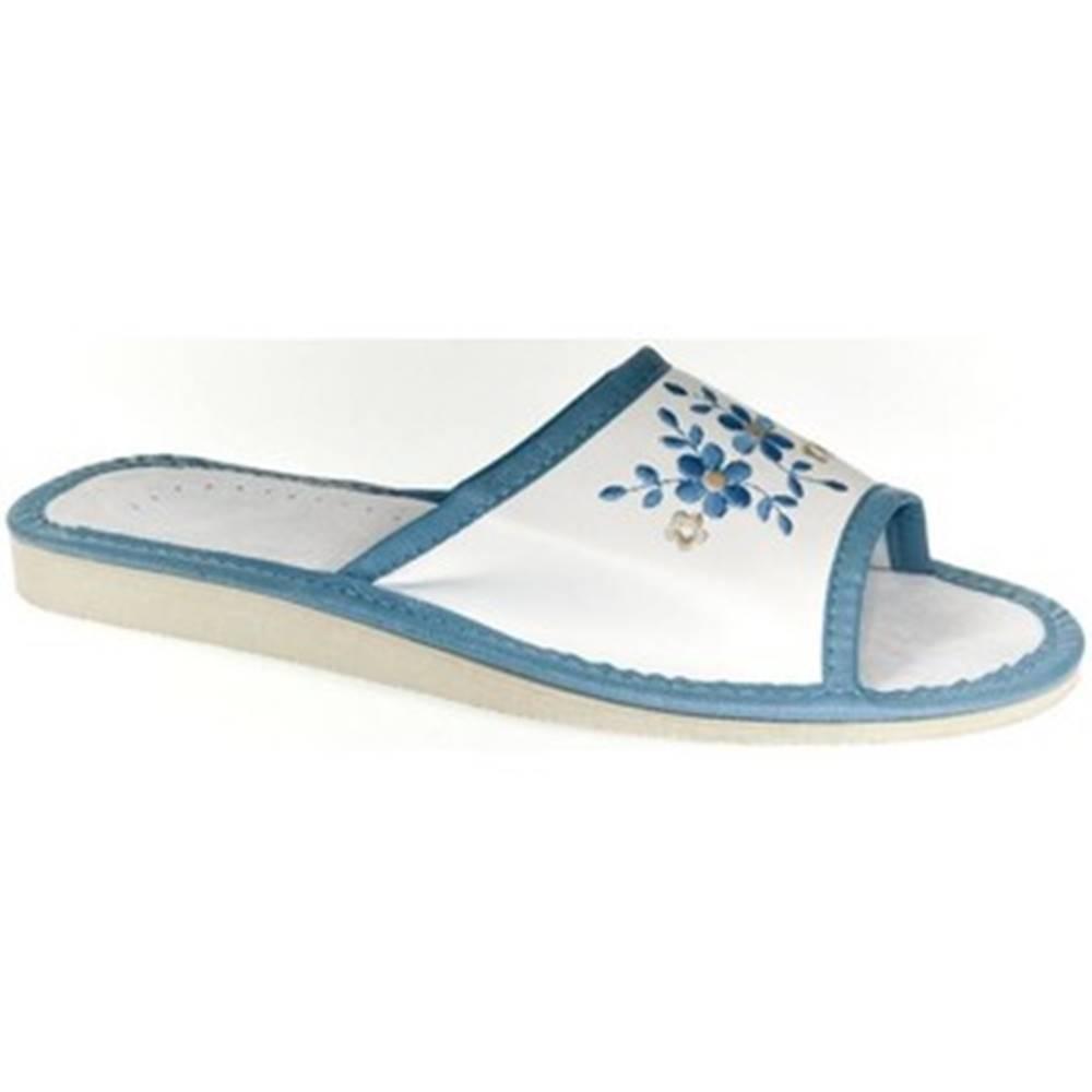 John-C Papuče John-C  Dámske bielo-modré papuče MALVINA