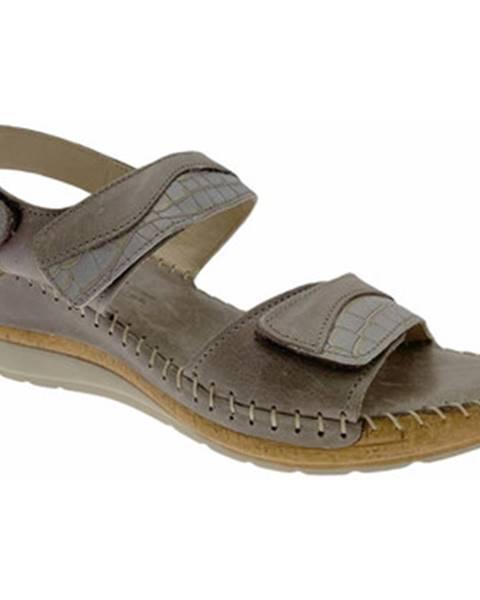 Hnedé sandále Riposella