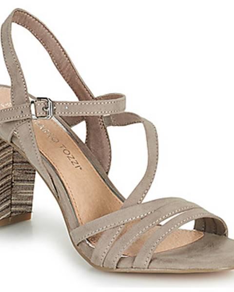 Béžové sandále Marco Tozzi