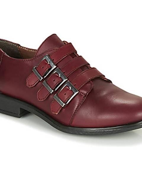 Bordové topánky André