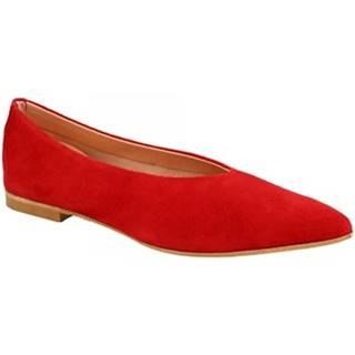 Balerínky/Babies Leonardo Shoes  ELBA 7 CAMOSCIO ROSSO