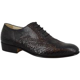 Derbie Leonardo Shoes  BOLOGNA PITONE NERO