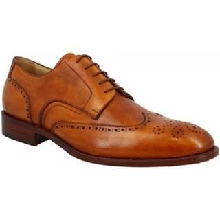 Derbie Leonardo Shoes  NORCIA GOODYEAR CUOIO