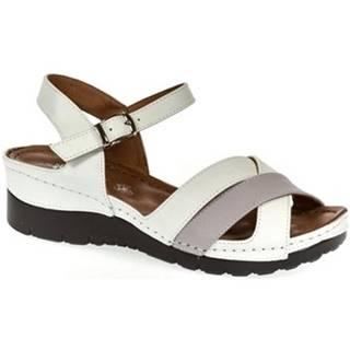 Sandále Let Get  Dámske biele sandále CELIA
