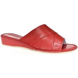 Papuče John-C  Dámske červené papuče RITA