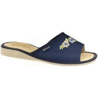Papuče John-C  Dámske modré papuče RITTA