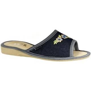 Papuče John-C  Dámske tmavo-modré papuče RITTA