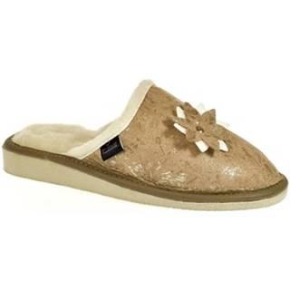 Papuče John-C  Dámske béžové papuče DANICA