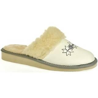 Papuče John-C  Dámske biele papuče VLASTA