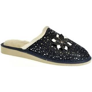 Papuče John-C  Dámske modré papuče FLOWE
