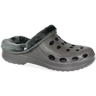Papuče John-C  Pánske sivé crocsy FLAME HERRY