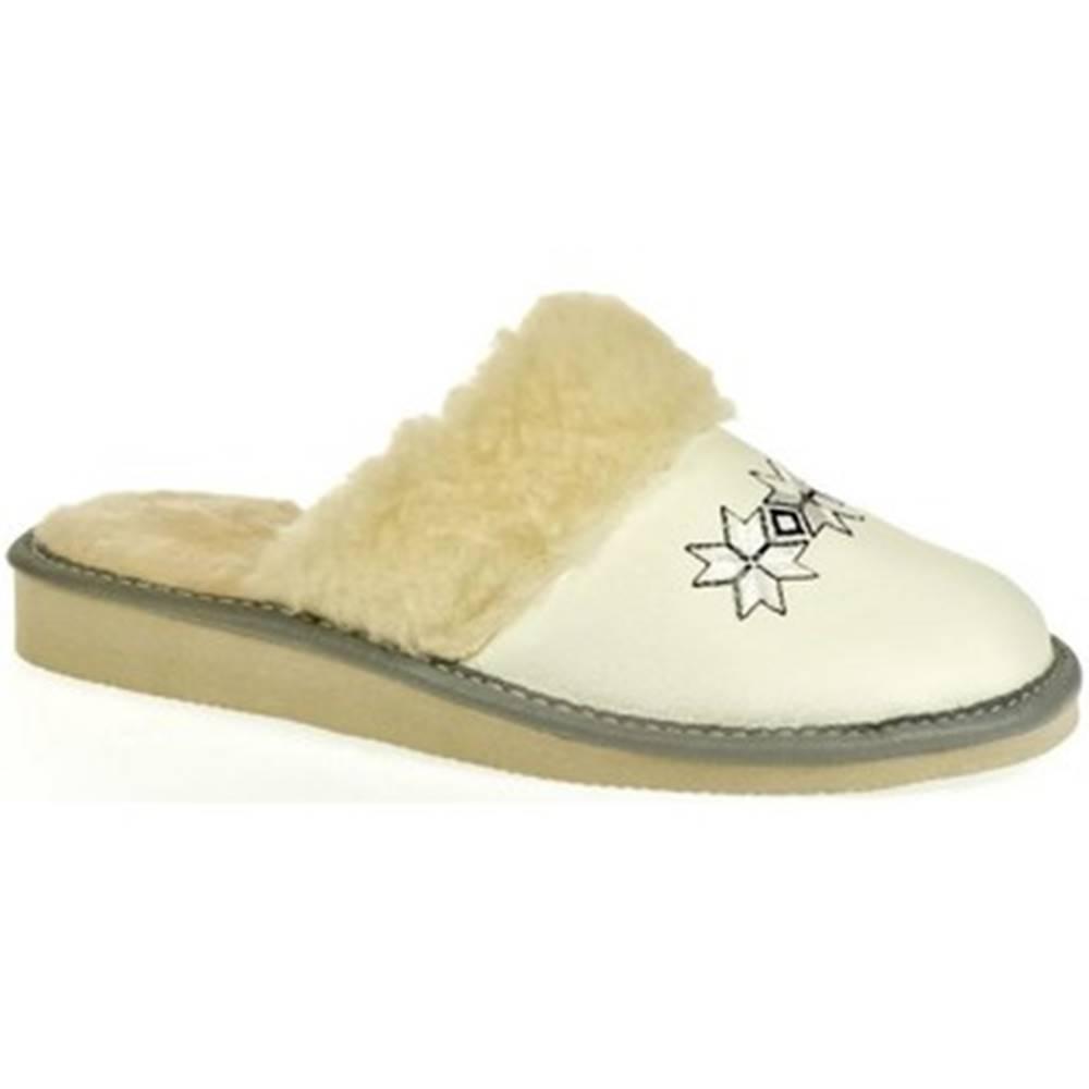 John-C Papuče John-C  Dámske biele papuče CHRISTI