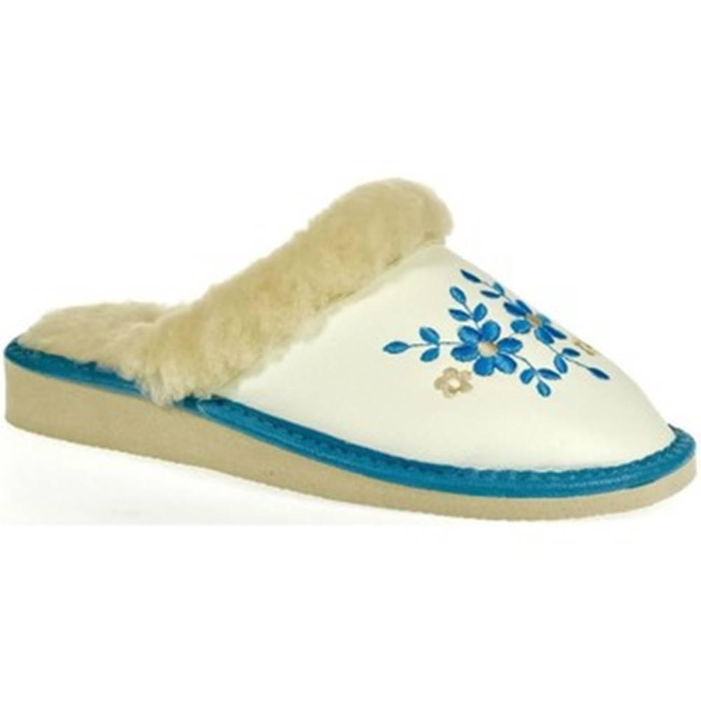 John-C Papuče John-C  Dámske biele papuče MALVINA