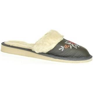 Papuče John-C  Dámske sivé papuče SILVANA