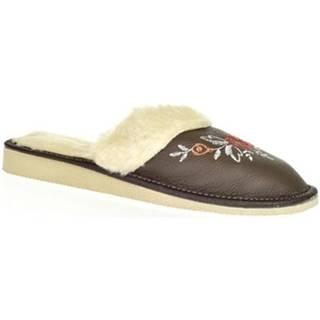 Papuče John-C  Dámske tmavosivé papuče SILVANA