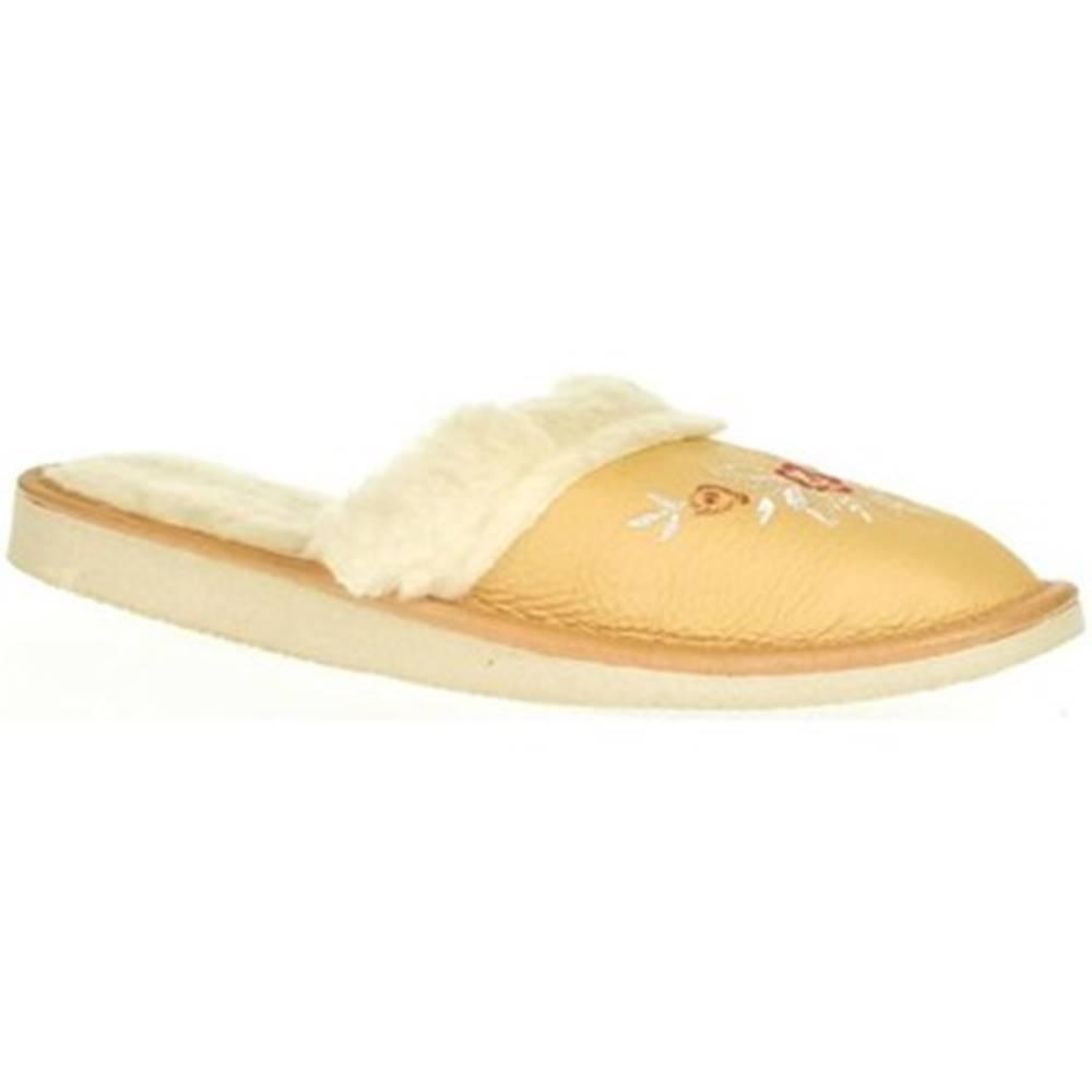 John-C Papuče John-C  Dámske béžové papuče SILVANA