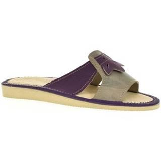 Papuče John-C  Dámske fialové papuče ULA