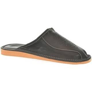 Papuče John-C  Pánske čierne papuče ILO