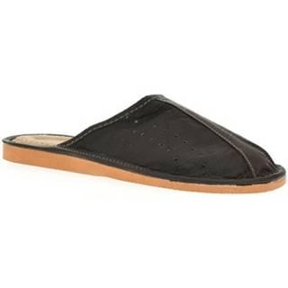 Papuče John-C  Pánske čierne papuče ONIS