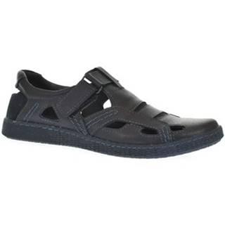 Sandále Krezus  Pánske modré poltopánky SOMETI