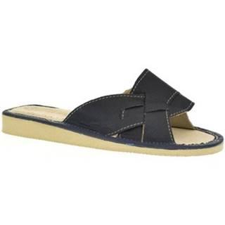 Šľapky John-C  Dámske tmavo-modré papuče MILA