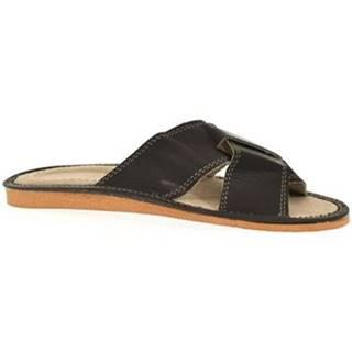 Šľapky John-C  Pánske čierne papuče HUGO
