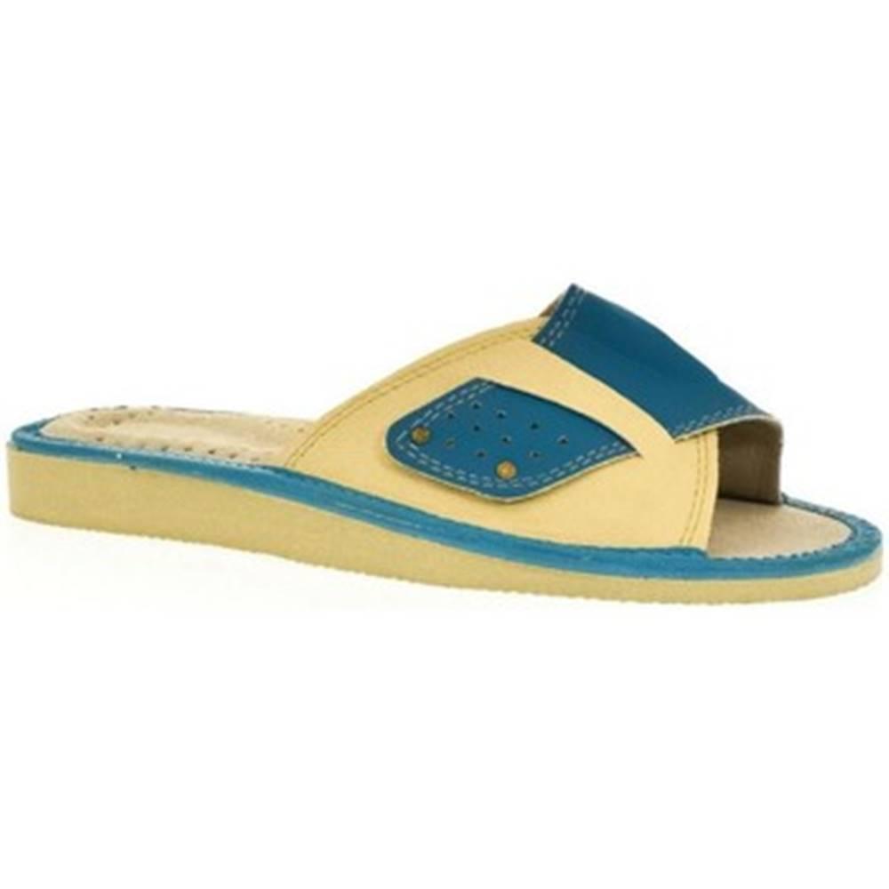 John-C Papuče John-C  Dámske modré papuče ULA