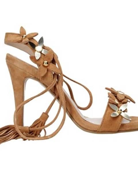 Hnedé sandále Trussardi