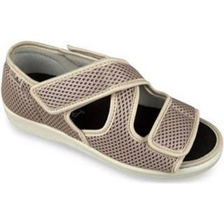Papuče Mjartan  Dámske béžové papuče  CALEY
